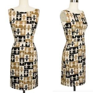 Trashy Diva Joan dress in fleur de lis print